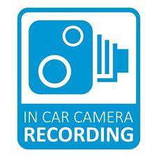 In Car CCTV Camera Recording Dash Cam Car Window Bumper Sticker Decal Light Blue