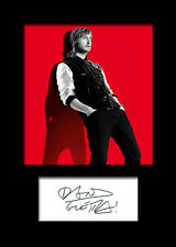 DAVID GUETTA Signed Photo Print A5 Mounted Photo Print - FREE DELIVERY