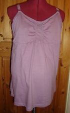 BNWT MATERNITY Mauve Feeding Camisole/Vest Top Size M - 12-14
