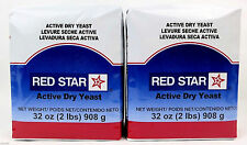 4 Pounds Red Star Bakers ~ACTIVE DRY YEAST~ Vacuum Pack Bread  (64 oz) KOSHER