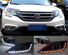 2x LED Daytime Running Light For Honda CRV Lamp DRL 2012 2013 2014 Turn Signal