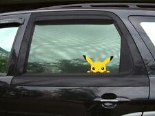 "Pokemon Pikachu Anime 7"" Internal Car window Sticker, Pokemon Go Pre Cut"