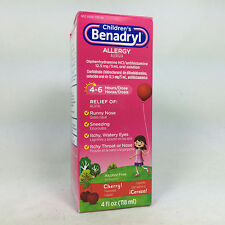 Benadryl Children's Allergy, Cherry Liquid, 4oz 350580534045A411