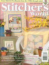 Stitcher's World March 2004 Magazine Victorian Garden ~ Friendship Sampler