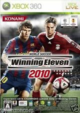 Used Xbox 360 Winning Eleven 2010 MICROSOFT JAPAN JP JAPANESE JAPONAIS IMPORT