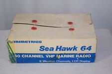 Vintage Unimetrics Sea Hawk 64 60 Channel VHF Marine Radio 9 Weather NIB