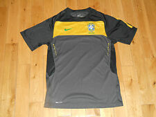 NIKE BRASIL BRAZIL CBF MENS SOCCER GRAY TRAINING JERSEY MENS SIZE SMALL