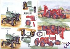 Tractors 3D Decoupage Sheet Card Making Paper Crafts *CUTTING REQUIRED*