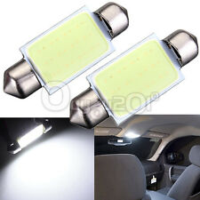 2PCS 39mm COB LED Coche Festoon Dome 3W Interior Lámpara Blanco Ultrabright 12V
