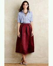New Anthropologie Alcina Midi Ball Skirt by Maeve SMALL Retail  $148