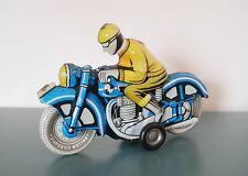 Tin Litho Motorcycle and Rider PenduPet Motorkerekpar