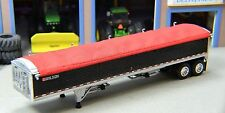 1/64 DCP WILSON BLACK GRAIN TRAILER W/FRONT DECAL AND RED TARP