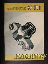 Asahi Pentax SP 500 the original manual english 02259