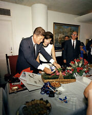 John F Kennedy & Jackie Photo 8X10 - JFK Birthday 1963 White House President