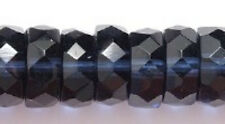 Czech Montana Disc Faceted Fire Polished Glass Beads 5x10mm 25pcs