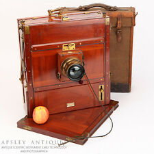 Large Format 10 x 12 Tailboard Camera By Watson & Sons London Brass Mahogany