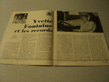A044 YVETTE FONTAINE '1972 BELGIAN CLIPPING
