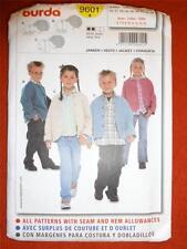 #9601 BURDA Sewing PATTERN. Child's JACKET Size 6-14years NEW-UNUSED-UNCUT