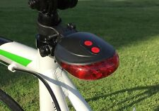 5 LED 2 Laser Cycling Bicycle Bike Tail Light Safety Flashing Warning Lamp
