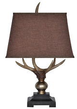 Monarch Deer Antler Motif Table Lamp 27 Inches Tall