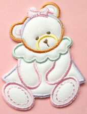 Bear - Teddy Bear - Girl - Embroidered Iron On Applique Patch