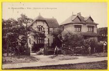 cpa RARE 14 - MERVILLE FRANCEVILLE PLAGE Les Villas CHANTECLER et la SAUVAGEONNE