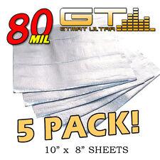 NEW 5 Pack GTMAT 80 mil Thick Ultra Sound Deadener Noise Deadening Material