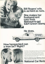 1965 Ford National Bill Rogers Rental  - Vintage Advertisement Car Print Ad J489