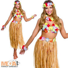 Hawaiian girl jupe & leis robe fantaisie femme costume national femme costume set