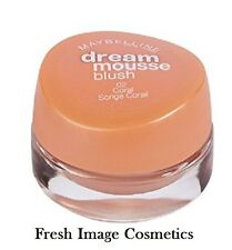 mAYBELLINE DREAM MOUSSE BLUSH  -  02 Coral NEW SEALED FULL SIZE