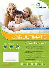 Allergy Guardian Ultimate Pillow Casing Anti Dust Mite Bed Bug - 100% Cotton