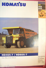 ✪ viejo folleto original/sale brochure Komatsu Truck hd465-7/hd605-7