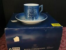Royal Copenhagen Year 2000 Christmas Cup and Saucer - Decorating the Tree