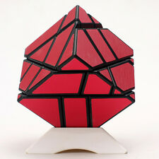Ninja 3x3x3 Magic Cube Skewb Twist Puzzle Intelligence Toys Black Brushed Red