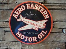 Aero Eastern Motor Oil Advertising Steel Sign Gas Pump Garage Vintage Style New