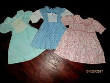 VTG LOT of 3 USED TODDLER Girls clothes 60's-70's dresses