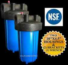 "2 BB Water Filter Housing w/ Bracket, Screws & Wrench 3/4"" ports 10"" x 4.5"""