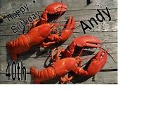 Lobster Crayfish Personalised A5 Birthday Card