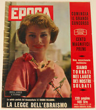 SOPHIA LOREN Epoca #397 1958 cover & 3 page article magazine clippings