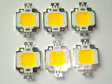 6 Stk. High Power 10 W LED Chip ww, 9 - 12V, Neu, 900 Lm, COB, Aquarium, Fluter