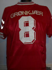 Denmark Home Euro 2000 Shirt ( 2000/2001* GRONKJAER 8) xl men's #262