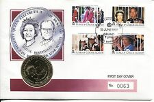 Coin Cover 1991 Royal Birthdays Turks and Caicos Crown 0063