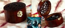 CIRCLE WOOD WIND UP MUSIC BOX : Harry Potter Hedwig's Theme