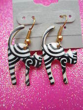 Crazy Scardy Cat Dangle Earrings