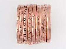 Copper Bangle Bracelets, Set of 3 Assorted Designs, Far Fetched Retired