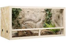 Holz Terrarium, Terrarien 120 x 60 x 60 cm OSB Platte, Seitenbelüftung