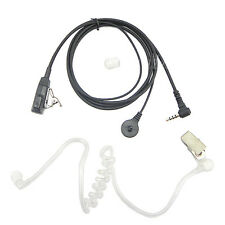 3.5 mm PTT Clear Acoustic Tube Headset Earphone for YAESU Vertex Ham Radio
