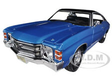 1971 CHEVROLET CHEVELLE SS 454 BLUE 1/18 DIECAST MODEL CAR BY MAISTO 31890