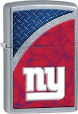 Zippo NFL New York Giants Rugged Street Chrome Windproof Lighter 29371 *NEW*