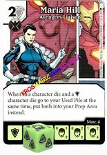 055 MARIA HILL Avengers Liaison -Common- AGE OF ULTRON Marvel Dice Masters